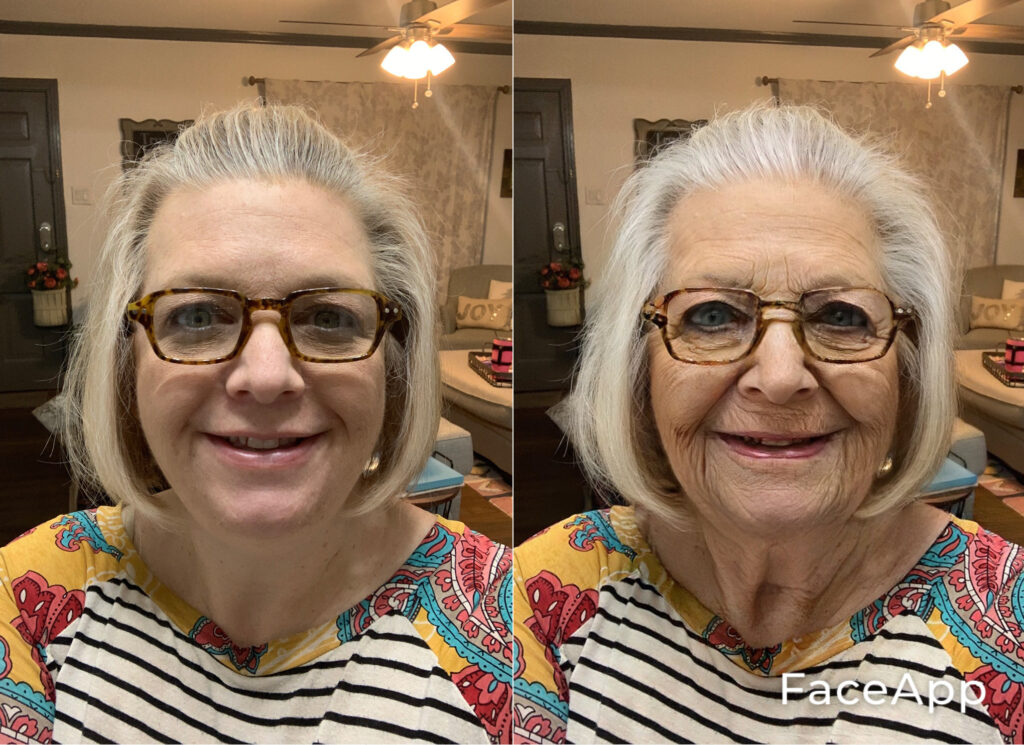 using an age progression app to see yourself at 100