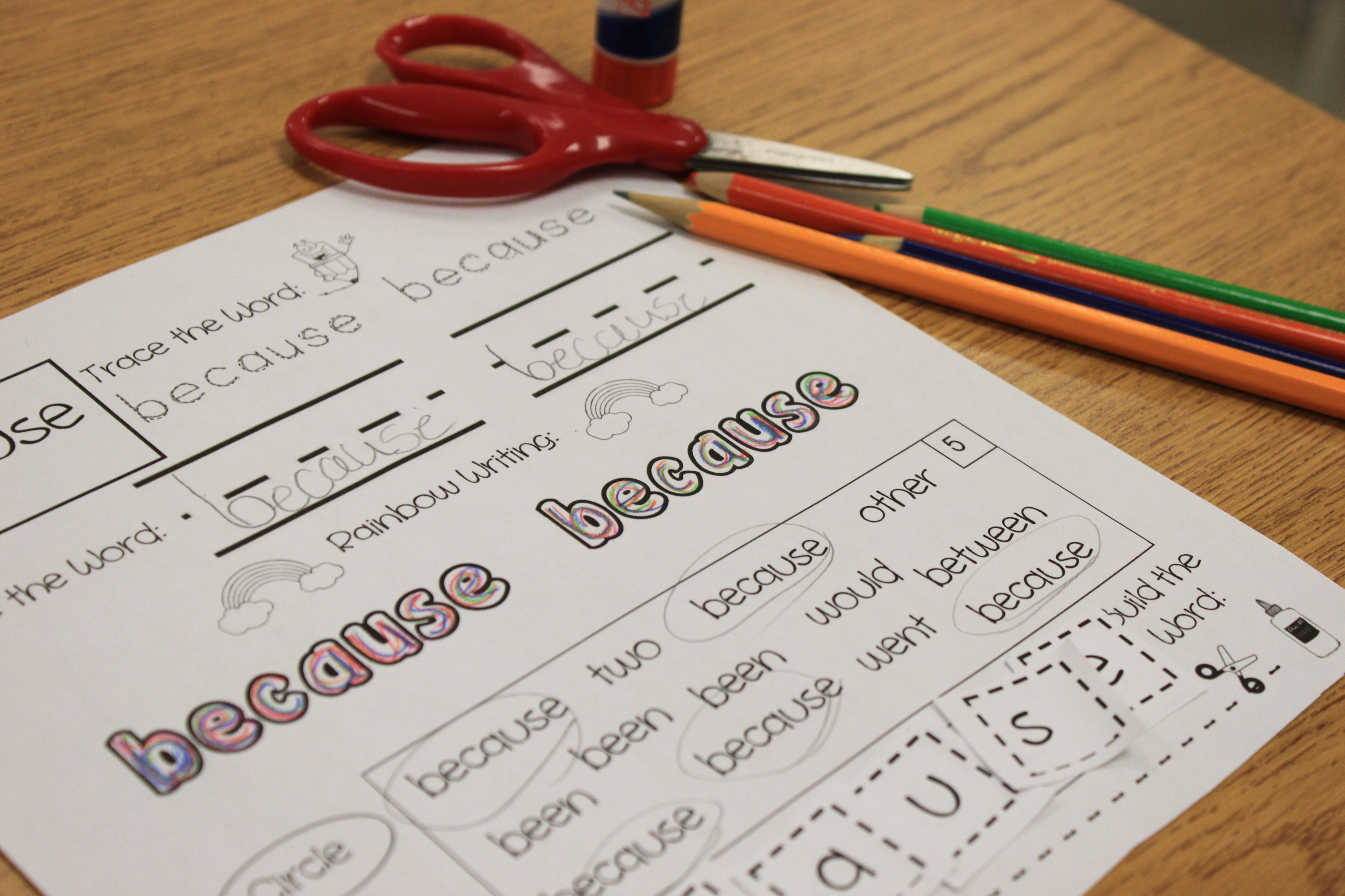 free sight word pages for teachers