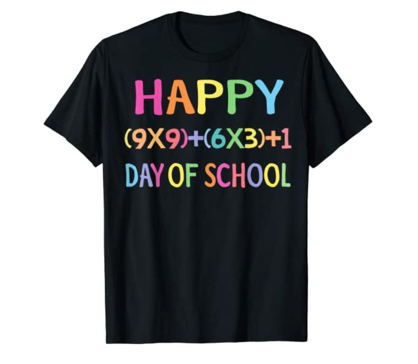 100th day of school math shirt