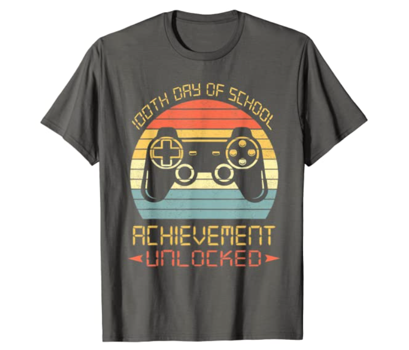 video game shirt for the 100th day of school