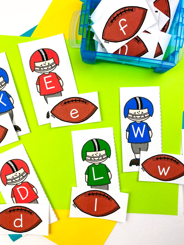 football letter cards for alphabet matching