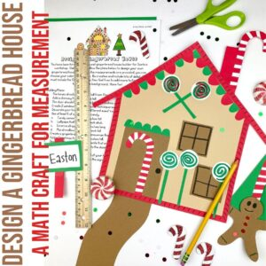 Design a Gingerbread House is a measurement activity with a craft