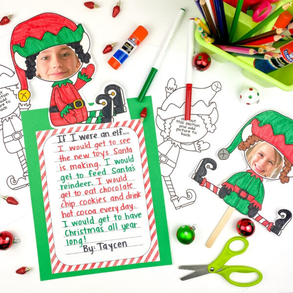 elf yourself writing craft is a fun way to add some holiday fun in the classroom