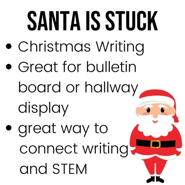 Santa's Stuck writing activity for December