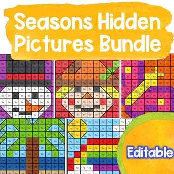 editable hidden pictures or mystery pictures can be used to create your own color by code activities for any skill