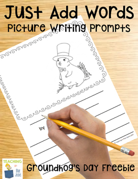 free resources for teachers Groundhog Day writing Just Add Words
