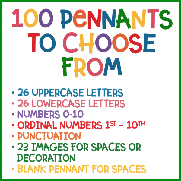 includes all letters, numbers, ordinal numbers, punctuation and images