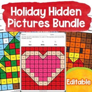 holiday themed hidden pictures editable