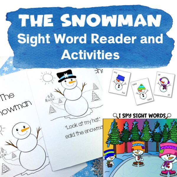 the snowman sight word reader
