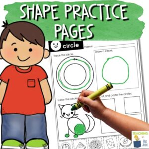 shape identification practice pages and worksheets