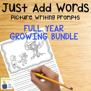 just add words picture writing prompts for elementary students