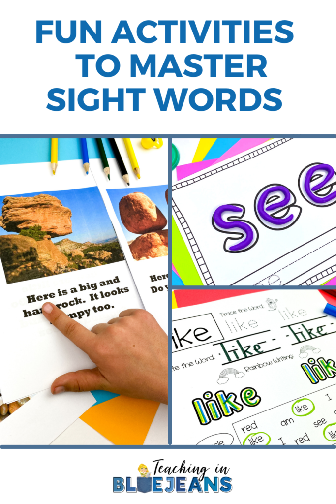 fun and engaging activities to help students master their sight words