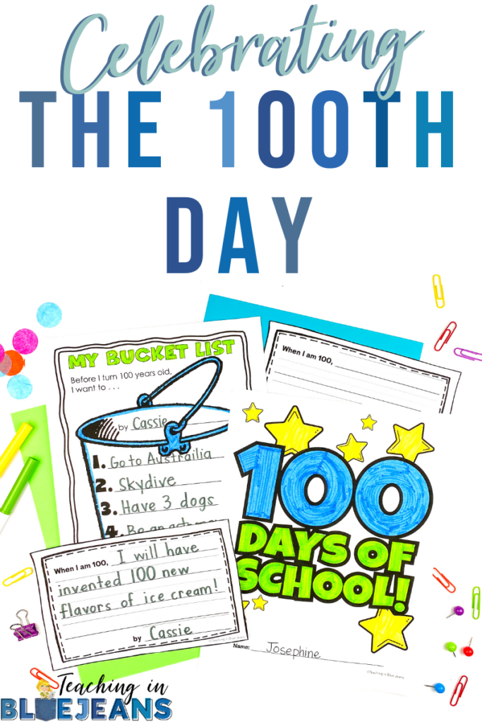 ideas for the 100th day of school including a no prep plan