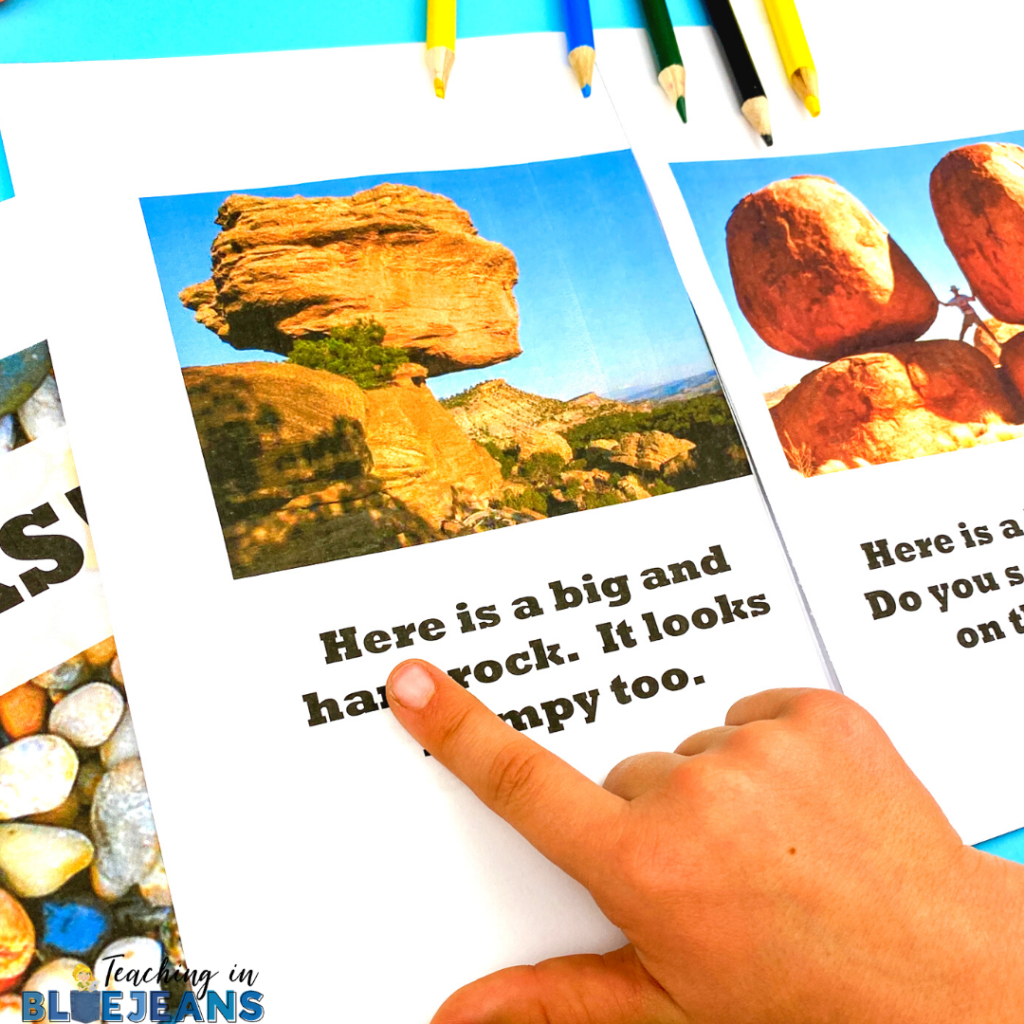 Rocks emergent science reader with sight words