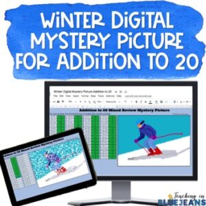 winter skier digital mystery pic
