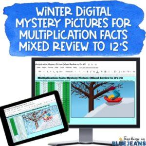 winter multiplication digital mystery pic
