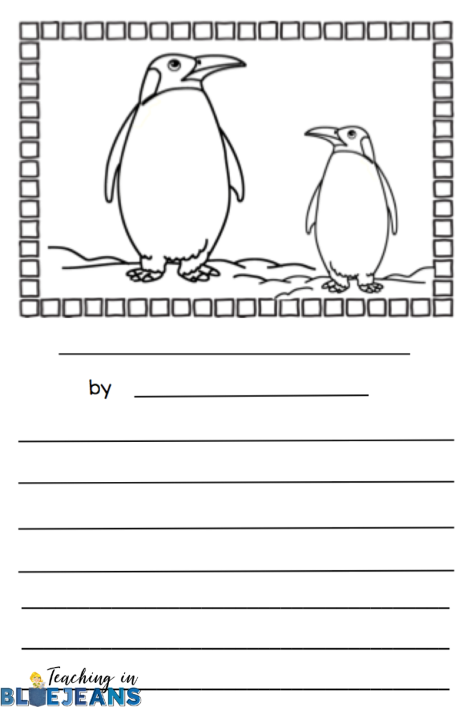 Penguin picture writing prompt can be used to practice a variety of writing skills