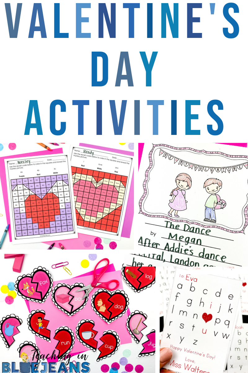 Valentine's Day activities for the primary classroom