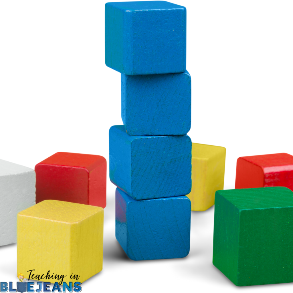 blocks are a great way to build math facts and provide a great visual representation that really helps students see and understand the concepts
