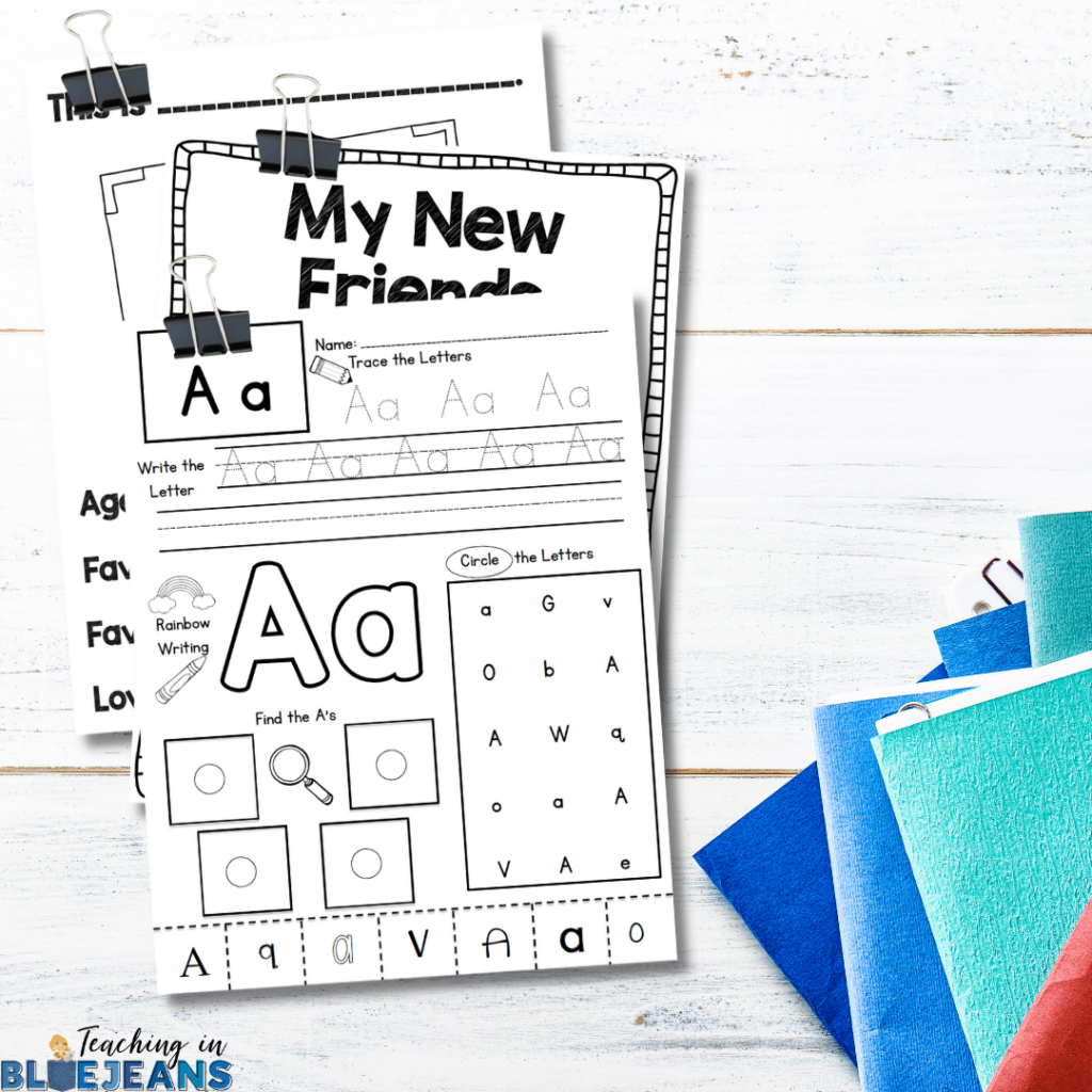 Have a plan set in place and make sure you are properly prepare for the first few weeks. Make copies, have activities planned accordingly and get all prep work done and ready to go so things won't be so hectic.
