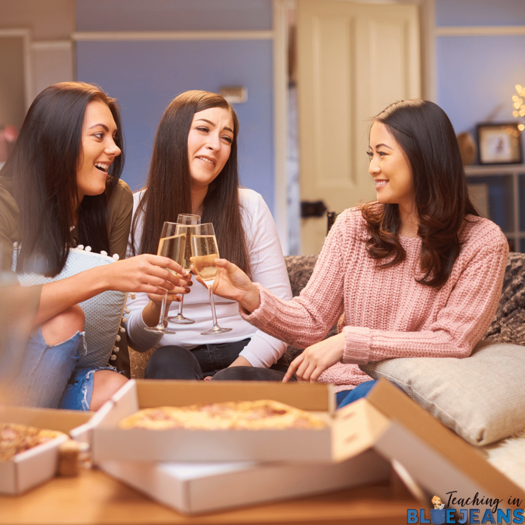 Plan a prep night party with your friends, family or other teachers and add some fun to back to school prepping