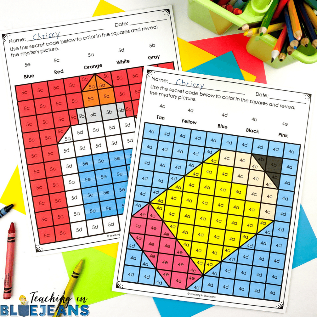 These school themed editable hidden pictures are a great way to review any skill or concept